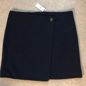 LOFT Skirts - navy blue pont wrap skirt Loft